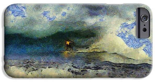 Wave Runner  IPhone Case by Richard Worthington