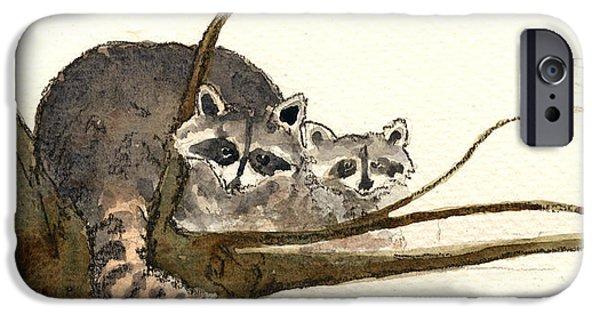 Raccoon IPhone 6s Case by Juan  Bosco