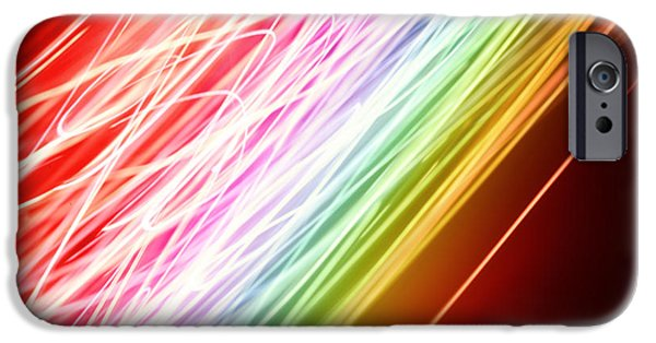 Energy Lines IPhone Case by Les Cunliffe