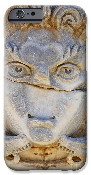 Sculpted Medusa Head At The Forum Of Severus At Leptis Magna In Libya IPhone 6s Case by Robert Preston