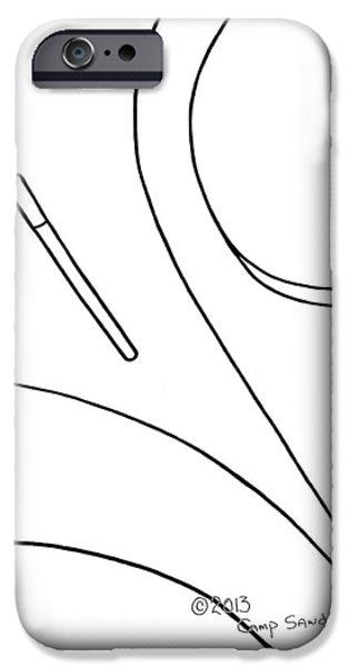 147-ls 'teardropper' IPhone Case by Gregory Otvos
