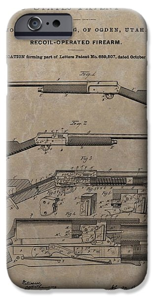 1900 Firearm Patent  IPhone Case by Dan Sproul