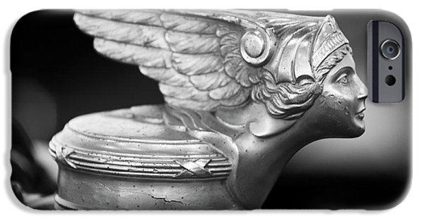 1928 Buick Custom Speedster Hood Ornament 3 IPhone Case by Jill Reger