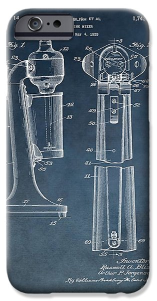1930 Drink Mixer Patent Blue IPhone 6s Case by Dan Sproul