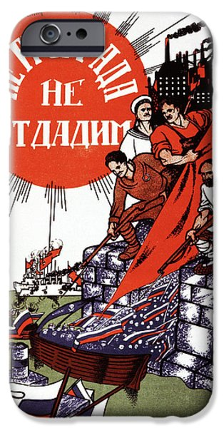 1930s Soviet Propaganda Poster IPhone Case by Cci Archives