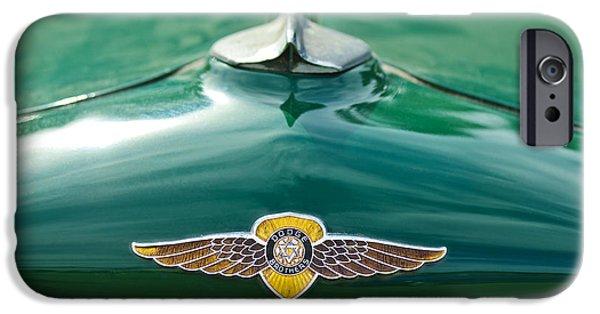 1934 Dodge Hood Ornament Emblem IPhone Case by Jill Reger