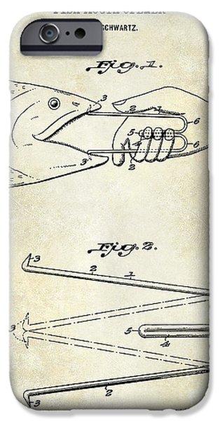 1940 Boning Fish Patent Drawing  IPhone Case by Jon Neidert