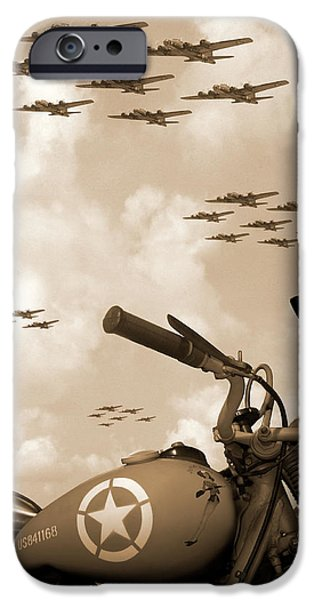 1942 Indian 841 - B-17 Flying Fortress' IPhone 6s Case by Mike McGlothlen