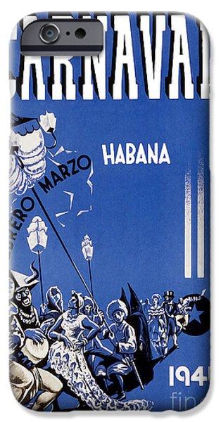 1946 Carnaval Vintage Travel Poster IPhone Case by Jon Neidert