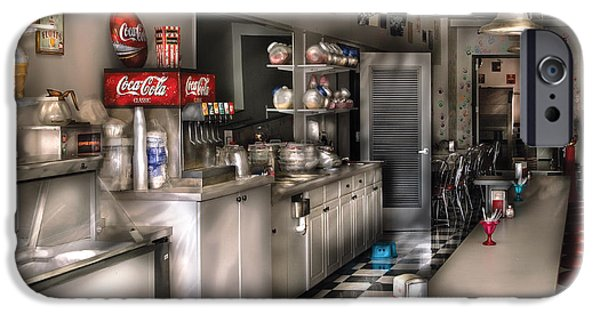 1950's - The Soda Fountain IPhone Case by Mike Savad