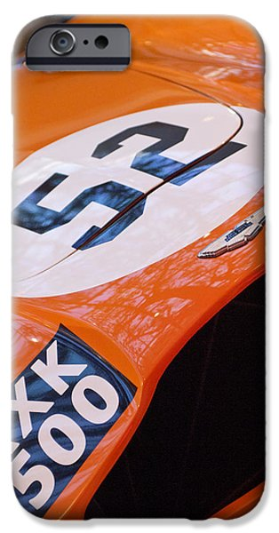 1955 Aston Martin Db3s Sports Racing Car Hood IPhone Case by Jill Reger