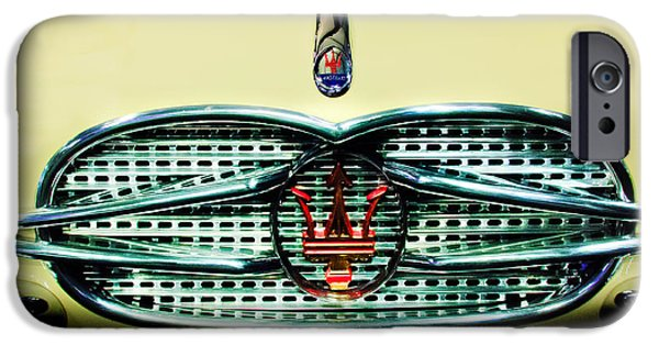 1957 Maserati 150 Gt Spider Grille Emblem - One-off Factory Prototype IPhone Case by Jill Reger