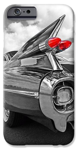 1959 Cadillac Tail Fins IPhone Case by Gill Billington