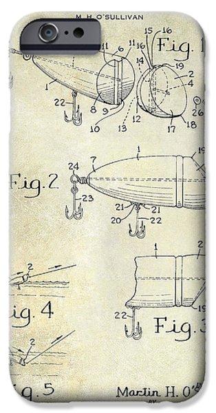 1959 Fish Lure Patent Drawing  IPhone Case by Jon Neidert