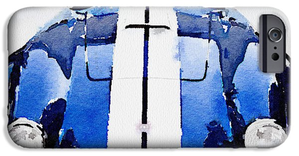 1962 Ac Cobra Shelby Watercolor IPhone Case by Naxart Studio