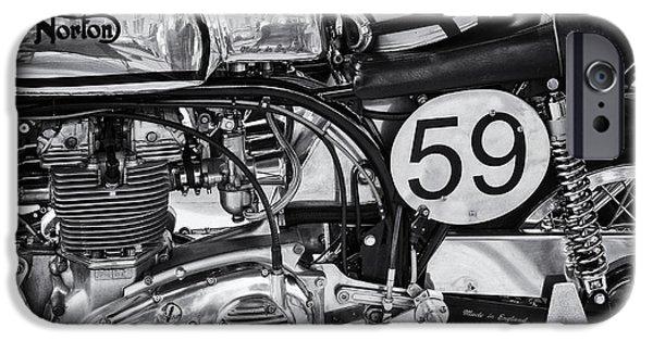 1963 Manx Norton Monochrome IPhone Case by Tim Gainey