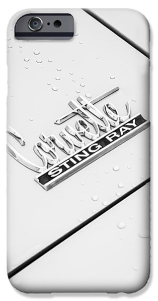 1966 Chevrolet Corvette Sting Ray Emblem -0042c IPhone Case by Jill Reger