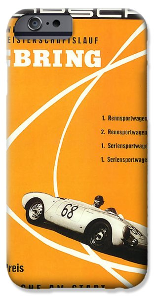 1968 Porsche Sebring Florida Poster IPhone Case by Georgia Fowler