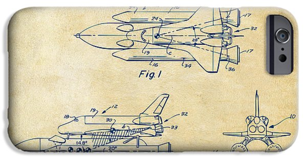1975 Space Shuttle Patent - Vintage IPhone 6s Case by Nikki Marie Smith