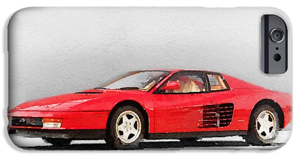 1983 Ferrari 512 Testarossa IPhone Case by Naxart Studio
