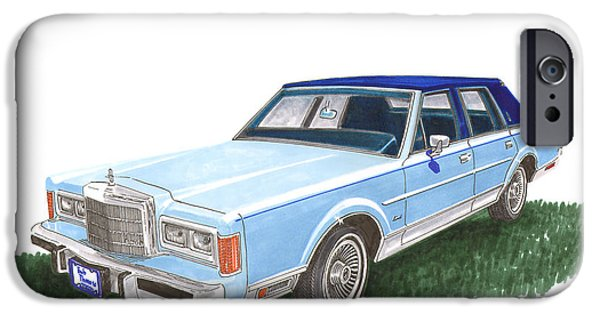 Classy 1989 Lincoln Towncar IPhone Case by Jack Pumphrey