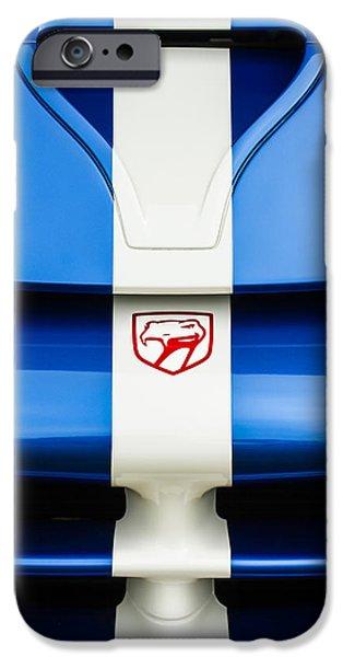 1998 Dodge Viper Gts-r Grille Emblem IPhone Case by Jill Reger