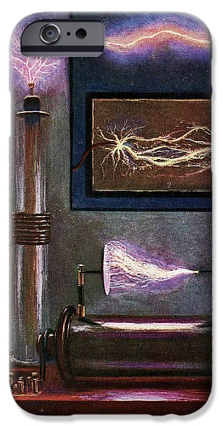 19th Century Electricity Demonstration IPhone Case by Cci Archives