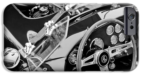 Ac Shelby Cobra Engine - Steering Wheel IPhone Case by Jill Reger