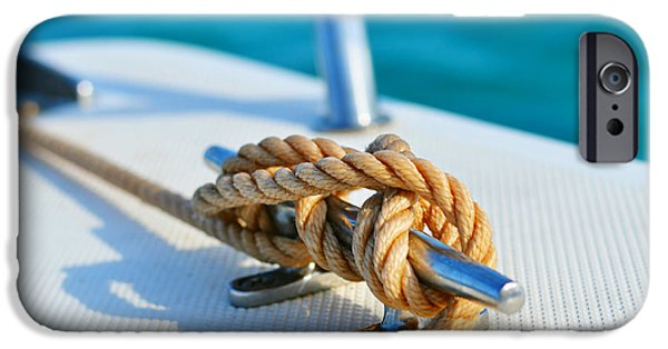 Anchor Line IPhone Case by Laura Fasulo