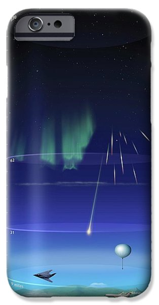 Artwork Of Earth's Atmospheric Layers IPhone Case by Mark Garlick