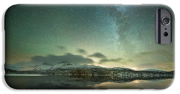 Aurora Borealis And Milky Way IPhone Case by Tommy Eliassen