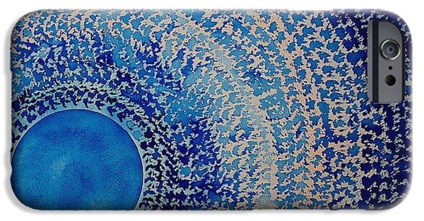 Blue Kachina Original Painting IPhone Case by Sol Luckman