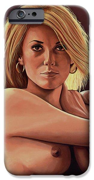 Catherine Deneuve Painting IPhone Case by Paul Meijering