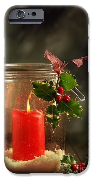 Christmas Candle IPhone Case by Amanda And Christopher Elwell