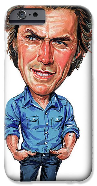 Clint Eastwood IPhone Case by Art