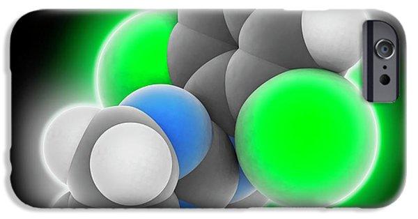 Clonidine Drug Molecule IPhone Case by Laguna Design