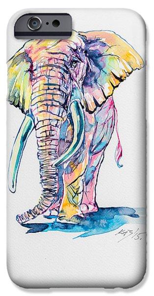 Colorful Elephant IPhone 6s Case by Kovacs Anna Brigitta