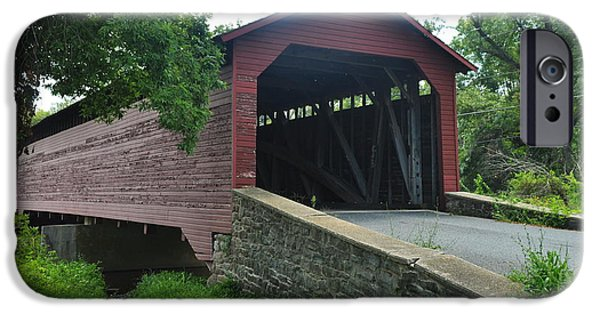 Covered Bridge IPhone Case by Mike Baltzgar