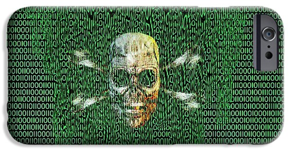 Digital Meltdown IPhone Case by Carol & Mike Werner