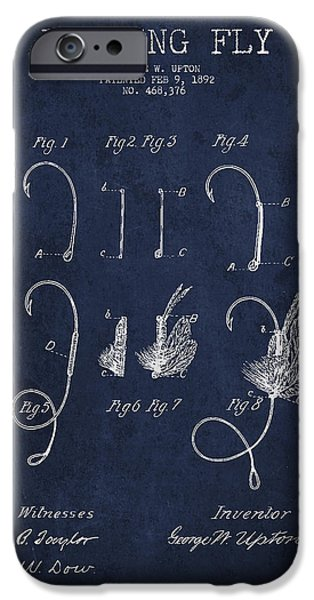 Fishing Fly Patent Drawing From 1892 IPhone Case by Aged Pixel