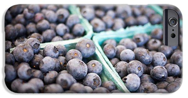 Fresh Blueberries IPhone Case by Edward Fielding