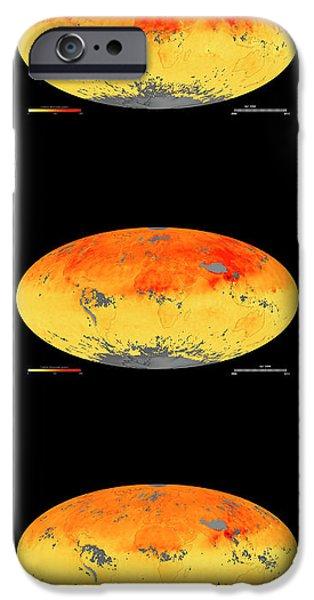 Global Carbon Monoxide Levels IPhone Case by Goddard Space Flight Center/nasa Earth Observatory/jesse Allen/nasa