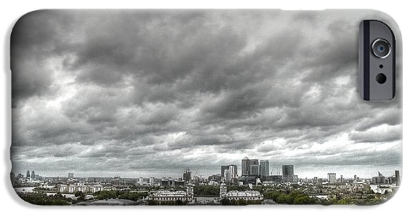 Greenwich And Docklands Hdr IPhone Case by David French