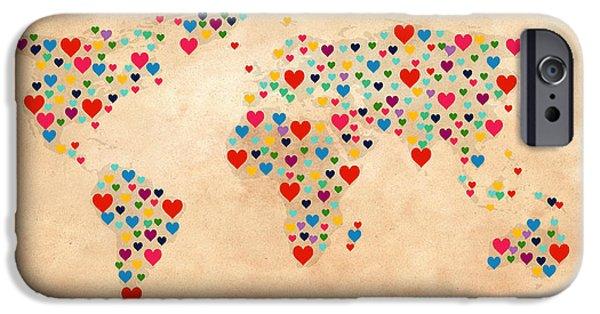 Heart Map  IPhone Case by Mark Ashkenazi