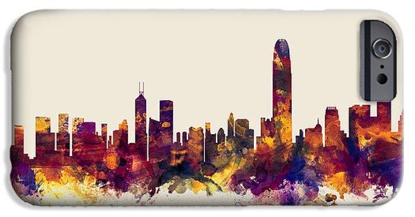 Hong Kong Skyline IPhone 6s Case by Michael Tompsett