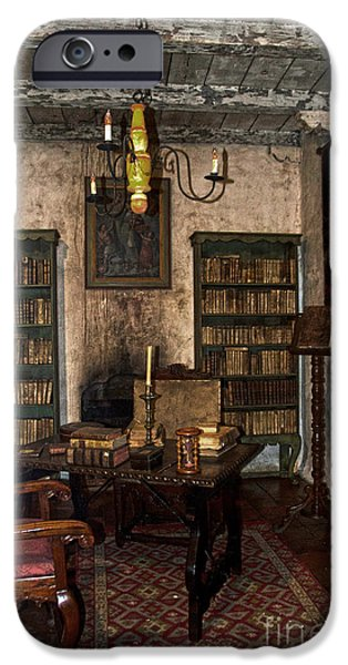 Junipero Serra Library In Carmel Mission IPhone Case by RicardMN Photography