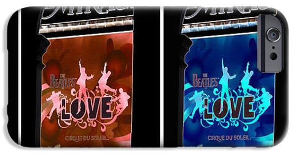 L O V E The Beatles IPhone Case by David Bearden