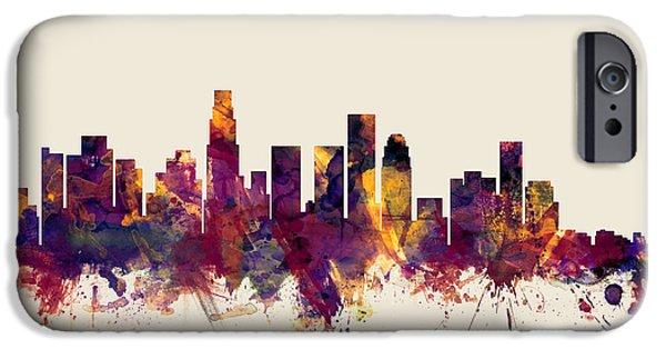 Los Angeles California Skyline IPhone 6s Case by Michael Tompsett
