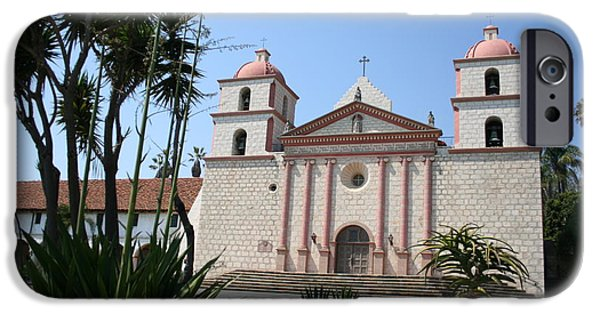 Mission Santa Barbara IPhone Case by Christiane Schulze Art And Photography