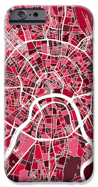 Moscow City Street Map IPhone 6s Case by Michael Tompsett